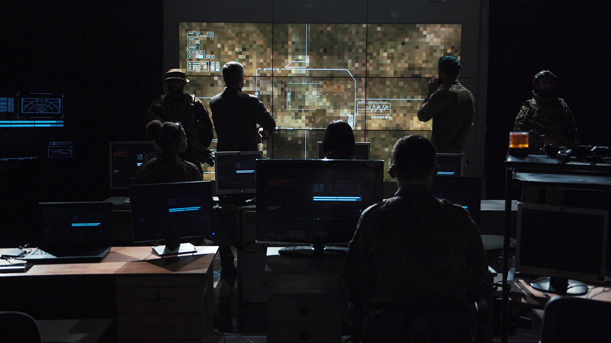 Cyberwarfare simulation room